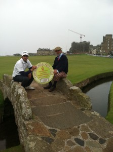 David and Andrew Kramer at St. Andrews Golf Course - Build Your Business