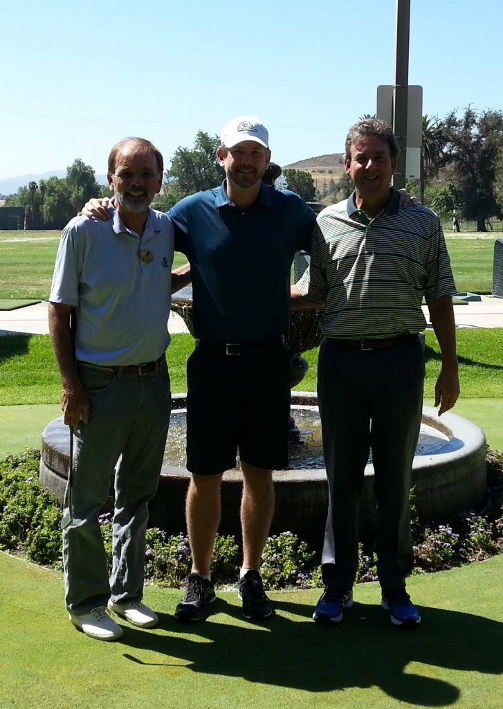 David Kramer, Zeb Welborn and Jay Miller at Los Serranos Country Club in Chino Hills, CA