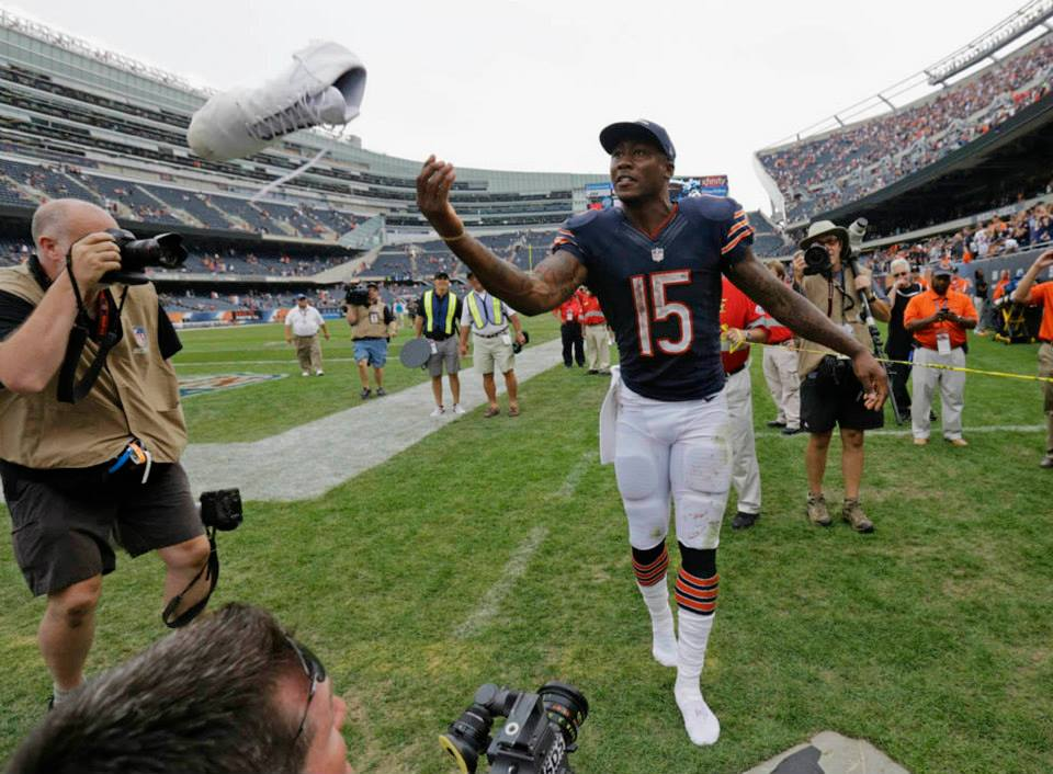 Associated Press Photographer Chris Carlson Brandon Marshall from the Chicago Bears and Denver Broncos on the Defining Success Podcast with Zeb Welborn