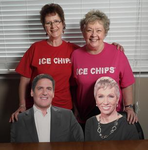 Charlotte Clary and Beverly Vines-Haines with Mark Cuban and Barbara Corcoran