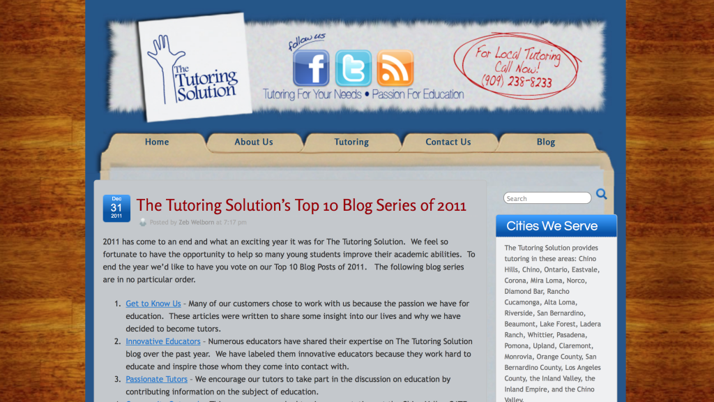Blog Writing to Learn by Zeb Welborn from The Tutoring Solution, Welborn Media and the Defining Success Podcast