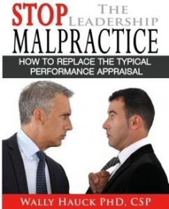Wally Hauck's book Stop Leadership Malpractice